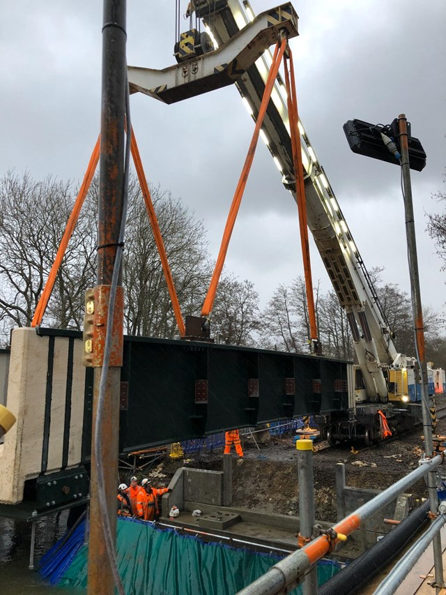 Yetminster bridge replaced -  18 Feb