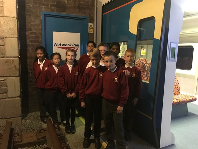 Rail Safety Week, Year 5 pupils from St Mary's Catholic Primary School in Wrexham
