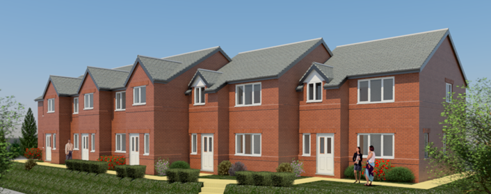 Former west Leeds pub site to be redeveloped for new affordable housing: formerlordcardigannewhouses.png