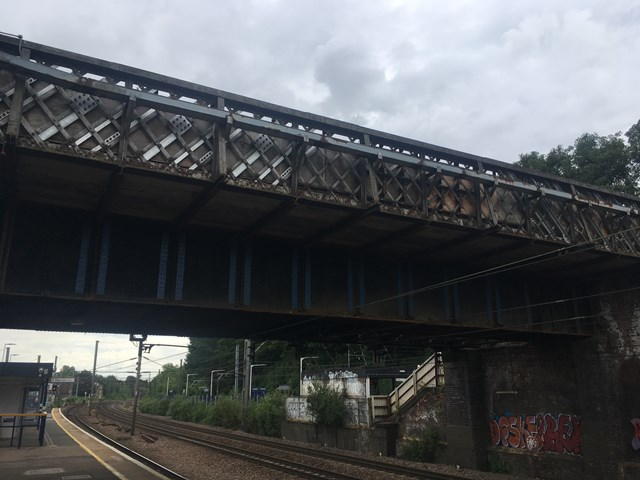 Harringay station footbridge