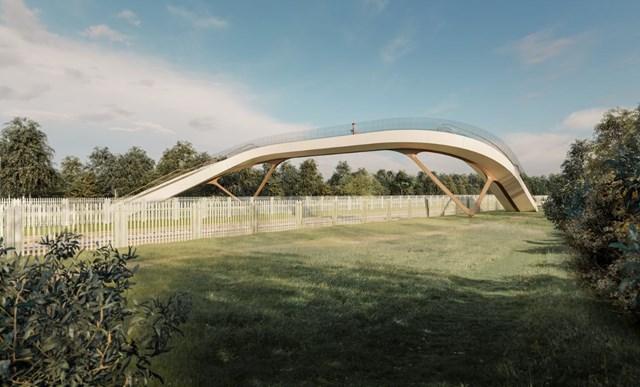 Innovative railway footbridge design is unveiled: bridge 1-18