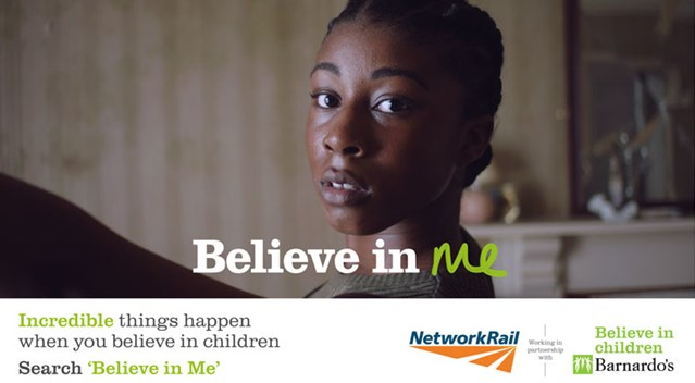 Barnardo's announces partnership with Network Rail: Barnardo's image