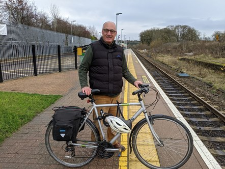 Cllr Alaa Al-Yousuf at Hanborough Station