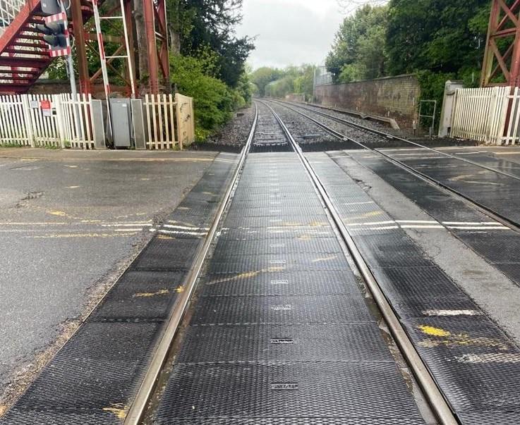 Network Rail begins work to improve Oakham level crossing: Oakham level crossing