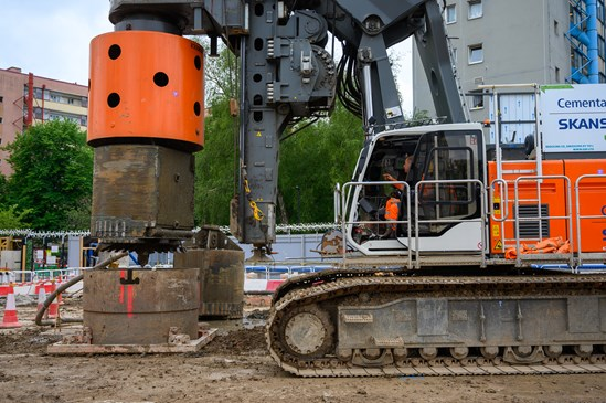 HVO piling rig: The first ever piling rig being fueled by HVO is being trialed on a HS2 site in London.  Tags: Environment, carbon, decarbonising, construction, London, Euston