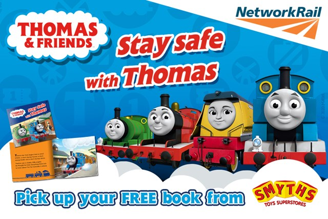 Chug on down to Smyths this World Book Day and get your FREE copy of Stay Safe with Thomas: Smyths and Thomas