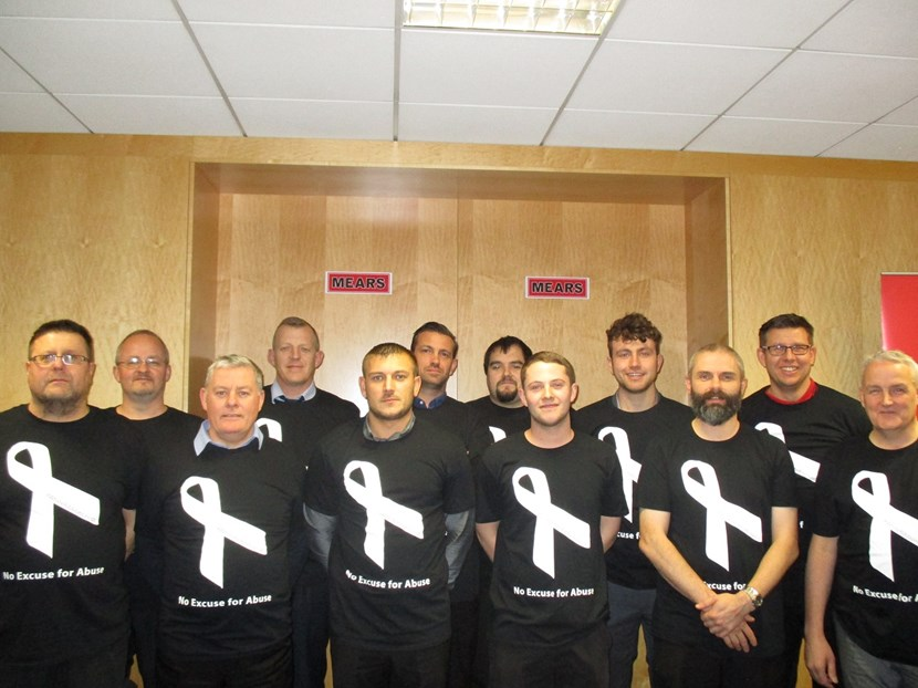 First business achieves quality mark status for domestic violence support: whiteribbonmearsteam.jpg