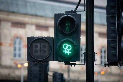 Siemens unveils diversity pedestrian traffic signals for The Manchester Pride Festival: manchester-pride-tfgm-1