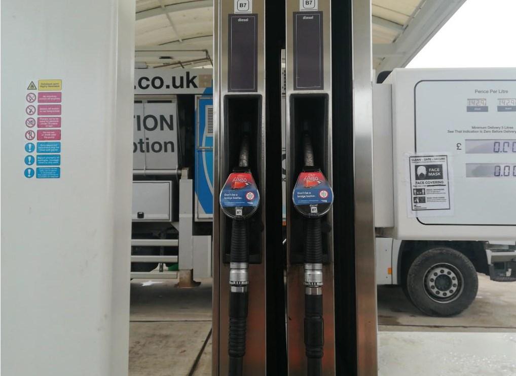 Network Rail bridge strikes campaign petrol pumps