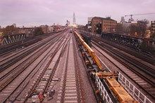 Completed new tracks to the east of London Bridge: The new tracks approaching London Bridge from the east have now been laid, ahead of Christmas and New Year when the new lines will be commissioned.