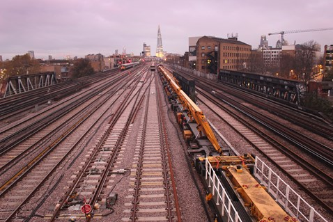 Completed new tracks to the east of London Bridge