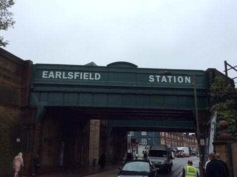 Revamped Earlsfield station bridges