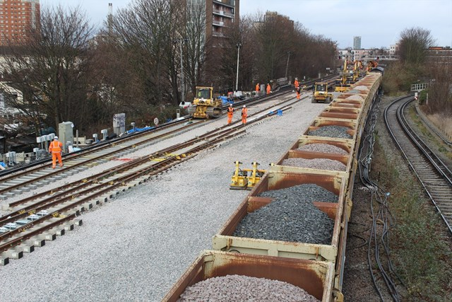 New Cross Christmas Day: Network Rail's teams were working hard on Christmas Day, replacing a worn out junction near New Cross, south east London.