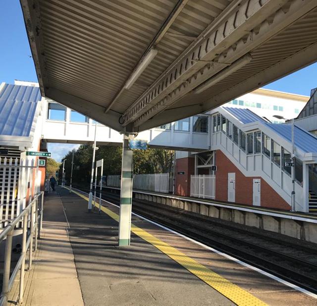 Crawley station platform