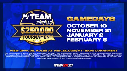 NBA 2K21 MyTeam Unlimited $250,000 Tournament - GameDays