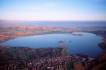 Loch Leven - aerial shot