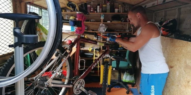 Welsh Government support helps Torfaen man launch bicycle repair business: Nathan Shephard