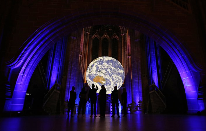 Gaia at Liverpool Cathedral for Liverpool City Council's River Festival, 2019. Photo by Gareth Jones (1). and