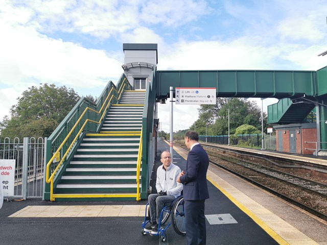 The new lifts and footbridge was offically opened on 28 August