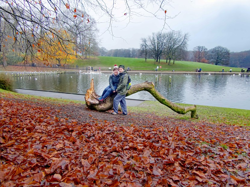 Lockdown love story comes true as parks team helps Leeds couple take a bough: Felled Willow Tree Iona and John