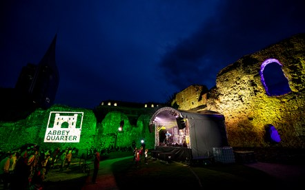 Reading Abbey Quarter - image from a 'Night in the Ruins': Image taken in the Abbey Ruins, during the music concert 'Night in the Ruins'