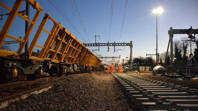 Network Rail on-track to deliver £8m of upgrades this Christmas: Christmas workers 2 16x9