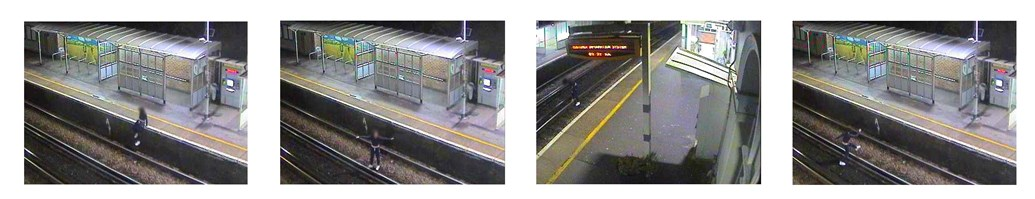 New data reveals sharp rise in alcohol related incidents across the rail network in December: CCTV of drunken revellers on the track
