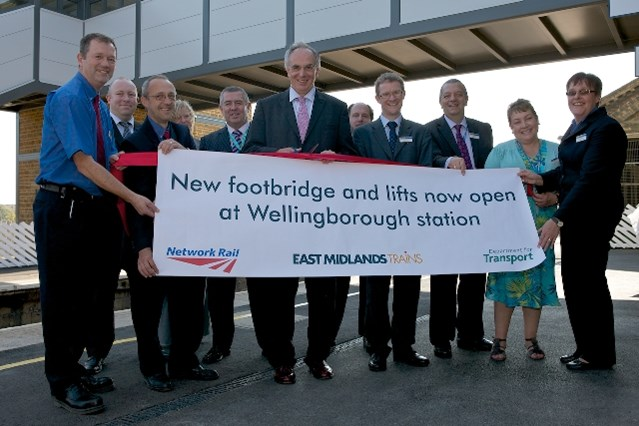 IMPROVEMENTS TO MAKE WELLINGBOROUGH STATION MORE ACCESSIBLE AND SPEED UP JOURNEY TIMES COMPLETE: Opening of new facilities at Wellingborough station