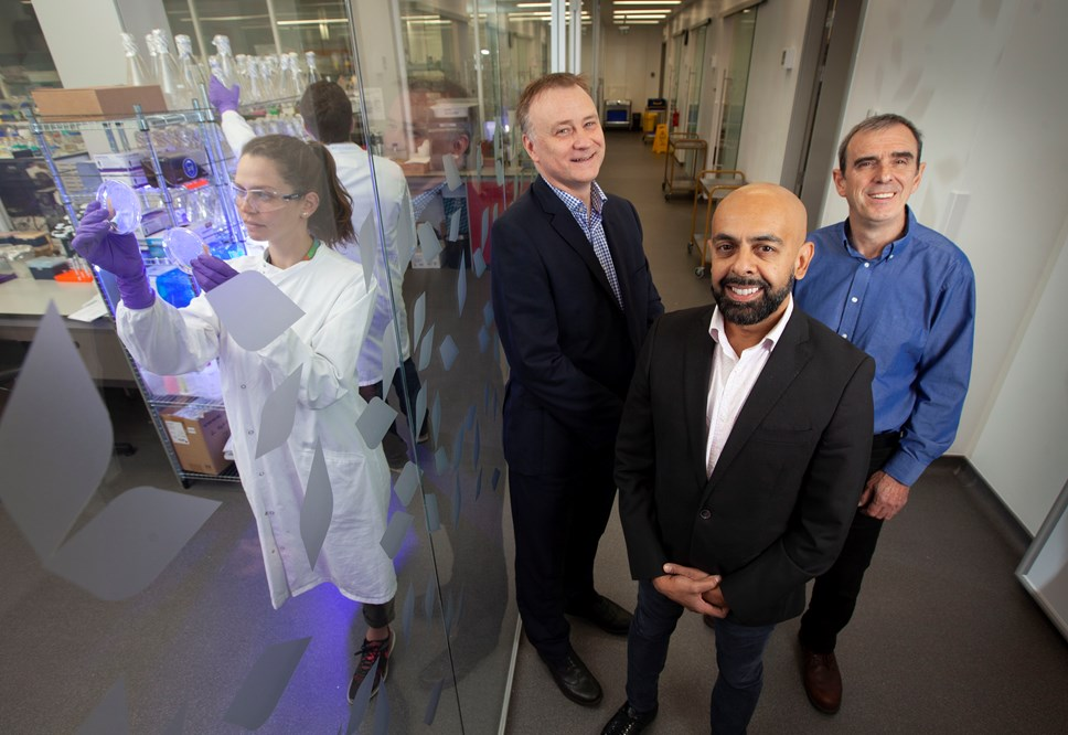Scottish biotech company completes £2m funding round to advance treatment of Haemophilia A: John McNicol from Kelvin Capital Jaymin Amin from ProFactor Pharma  and Ian Fotheringham from Ingenza 3