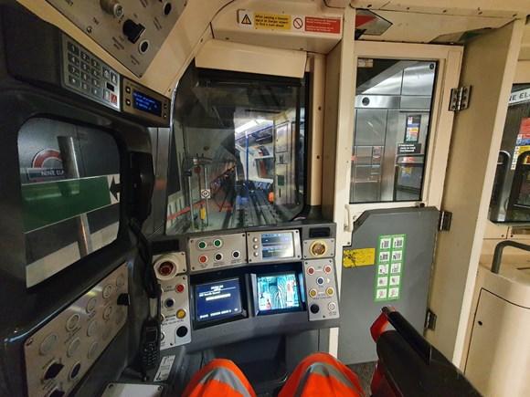 TfL Image - NLE trial operations - taken during taken during Track to Train CCTV image adjustment & testing