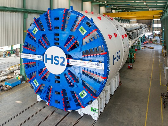 TBM for HS2's Long Itchington Wood Tunnel 2