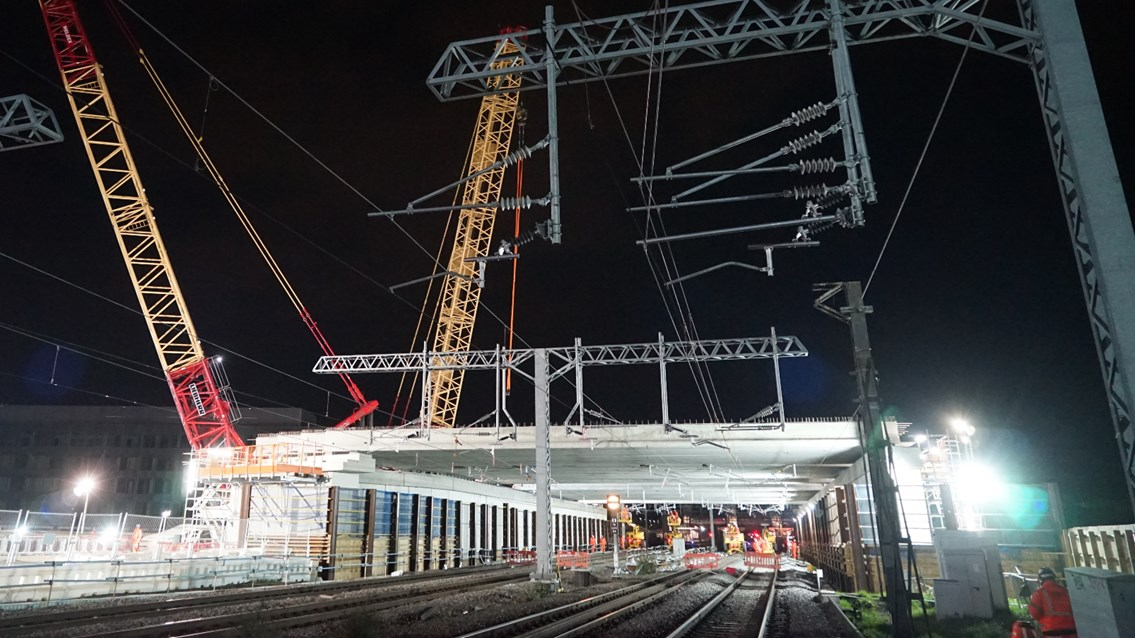 Bank holiday rail upgrades complete between London and Scotland: Bletchley flyover rebuild early May 2021