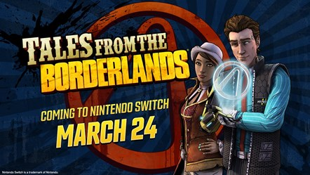 Tales from the Borderlands - Switch Key Art
