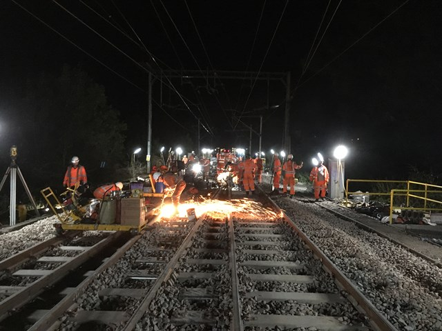 Major rail upgrades completed at Witham to make Norwich to London main line services more reliable: Track renewals at Witham-3