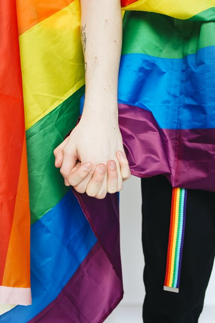 Pride - Couple holing hands