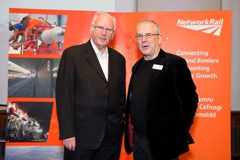 Pete Waterman (left) with Network Rail chairman Sir Peter Hendy