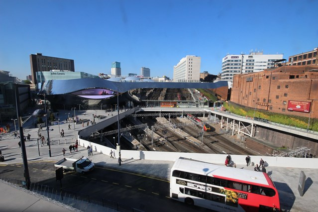 Birmingham New Street station users show their love as customer satisfaction levels rise: Birmingham New Street station