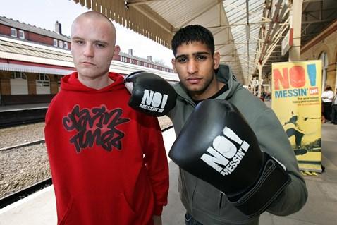 No Messin'! launch - Paul McDonald with Amir Khan