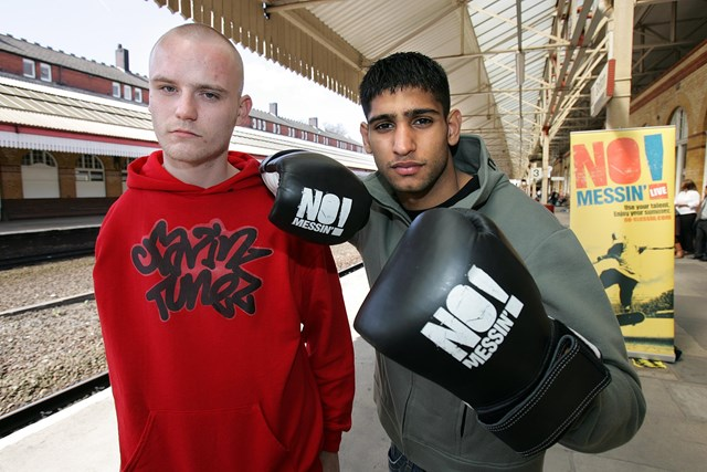 No Messin'! launch - Paul McDonald with Amir Khan