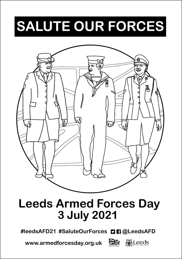 Armed Forces Day colouring in poster