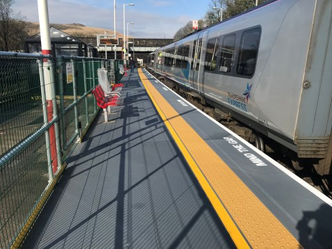 Improved platform two at Marsden station (2)