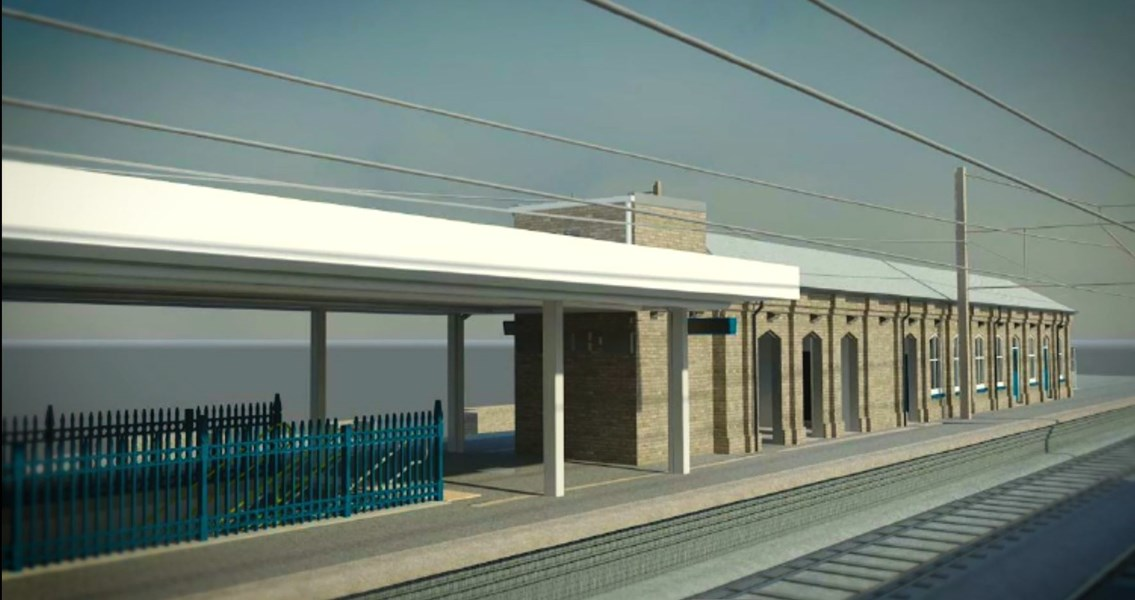 Finsbury Park road closure this weekend as Network Rail continues with major station upgrade to improve accessibility for passengers: 3D impression, Finsbury Park railway station