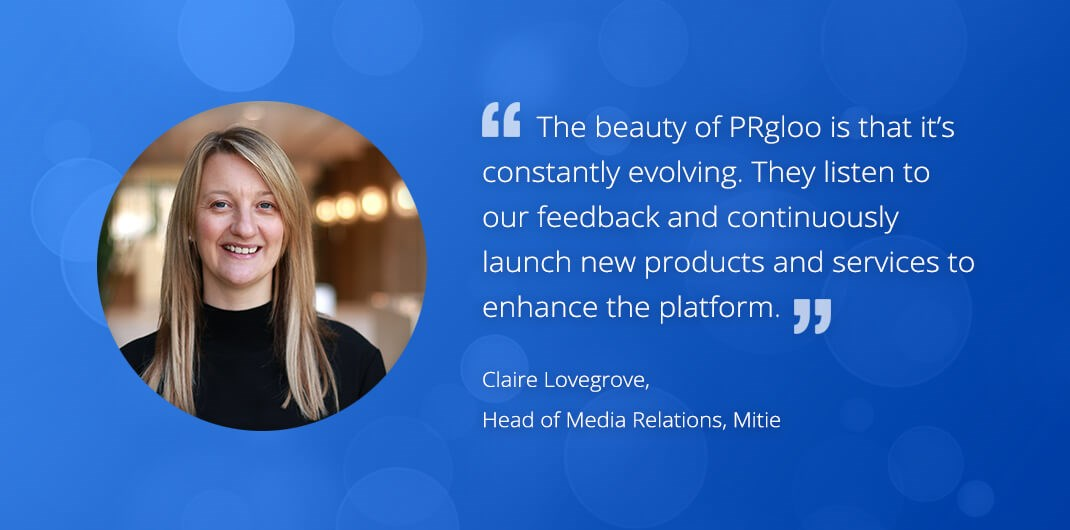 100 reasons why PRgloo is the solution for you: ClaireLovegrove5 Mitie