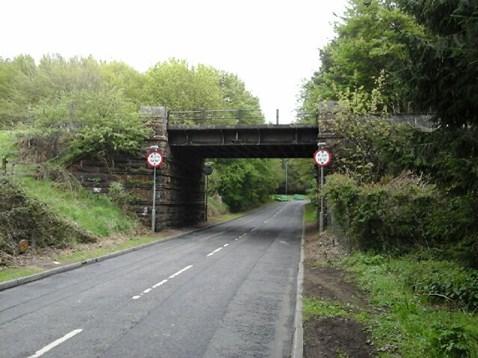 Muirieston Road under bridge