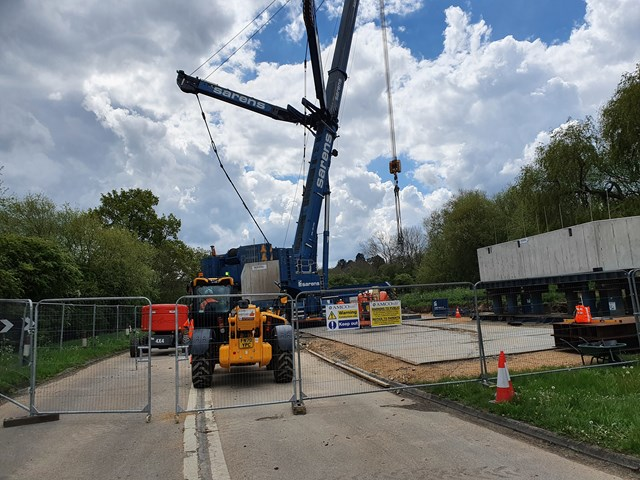 Preparation work at Manton bridge