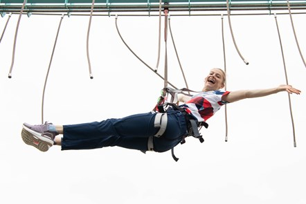 Bryony Page on Aerial Adventure at Caister-on-Sea