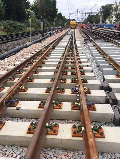 New track at North Wembley junction