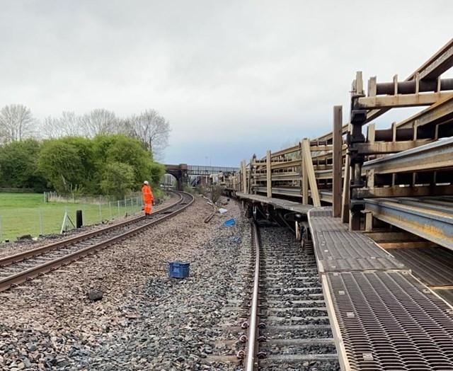 Engineering train derailment, Church Fenton