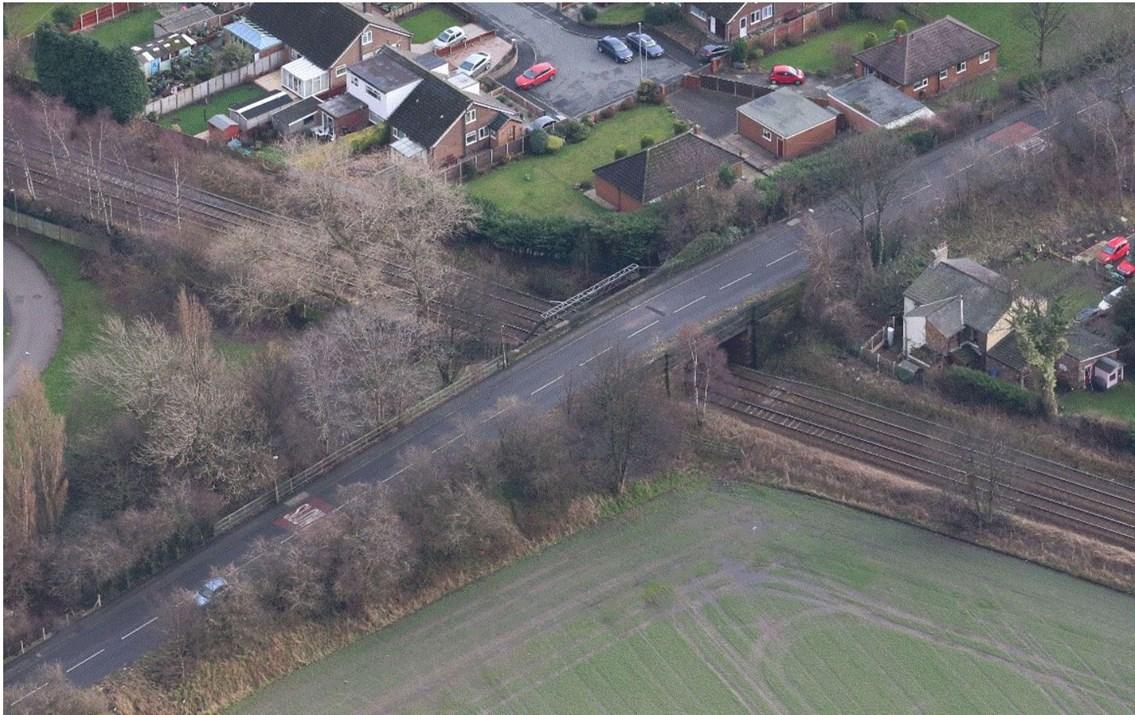 Check before you travel as Warrington railway bridge is rebuilt: Stocks Lane bridge, Warrington