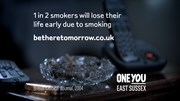 Be There Tomorrow anti-smoking campaign - 1 in 2